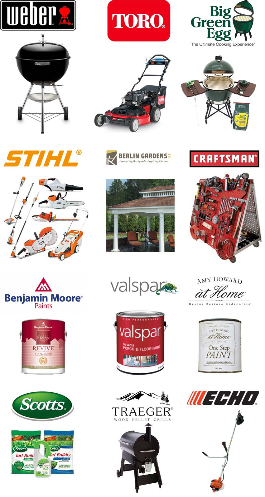 Hardware Brands We Carry